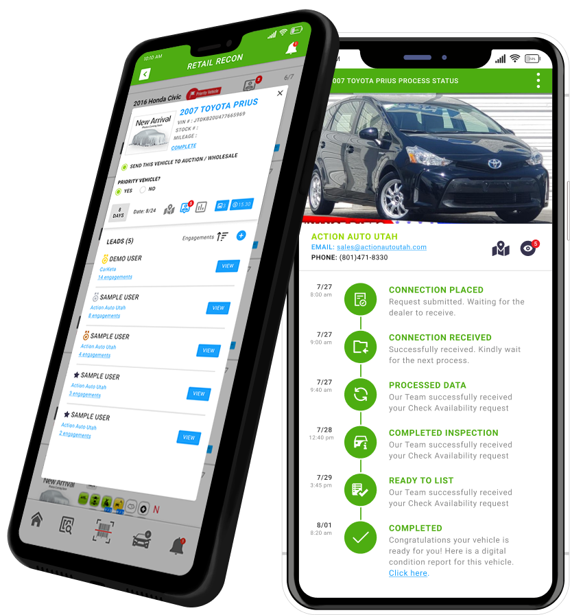 Auto Recon Tool - Mobile Phone with Carketa Connect App