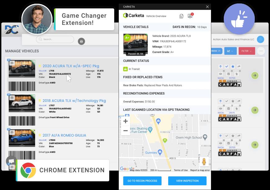 dms-software-tool chrome extension carketa
