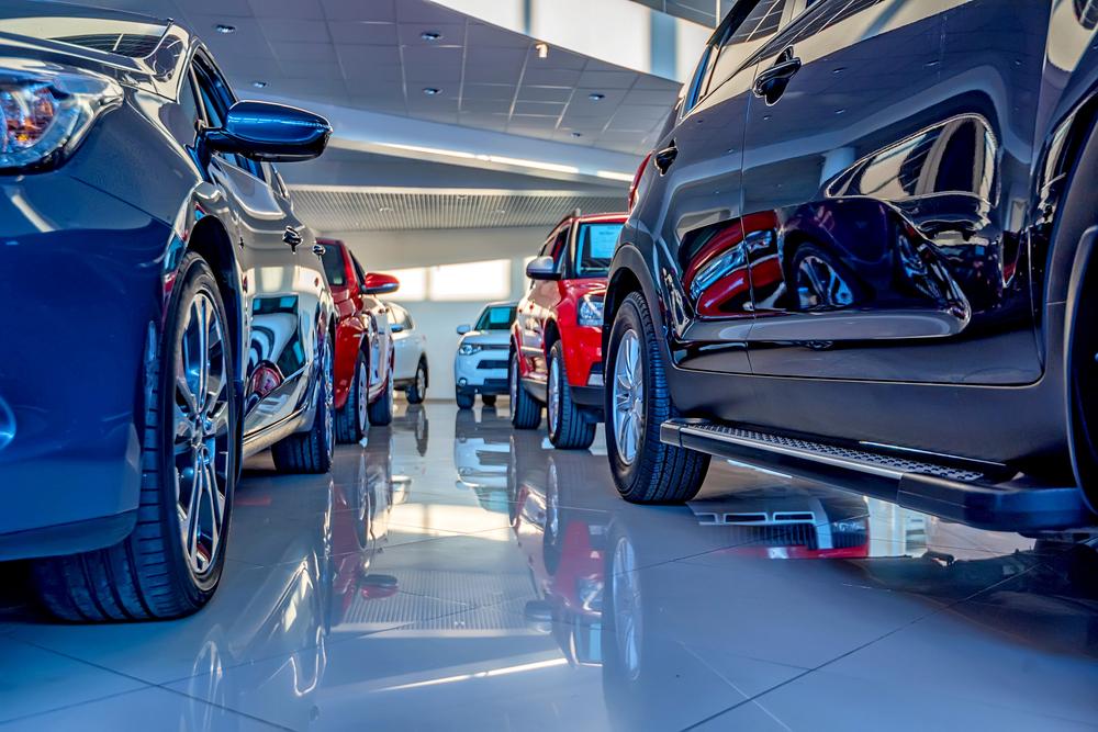 dealership-software a clean showroom