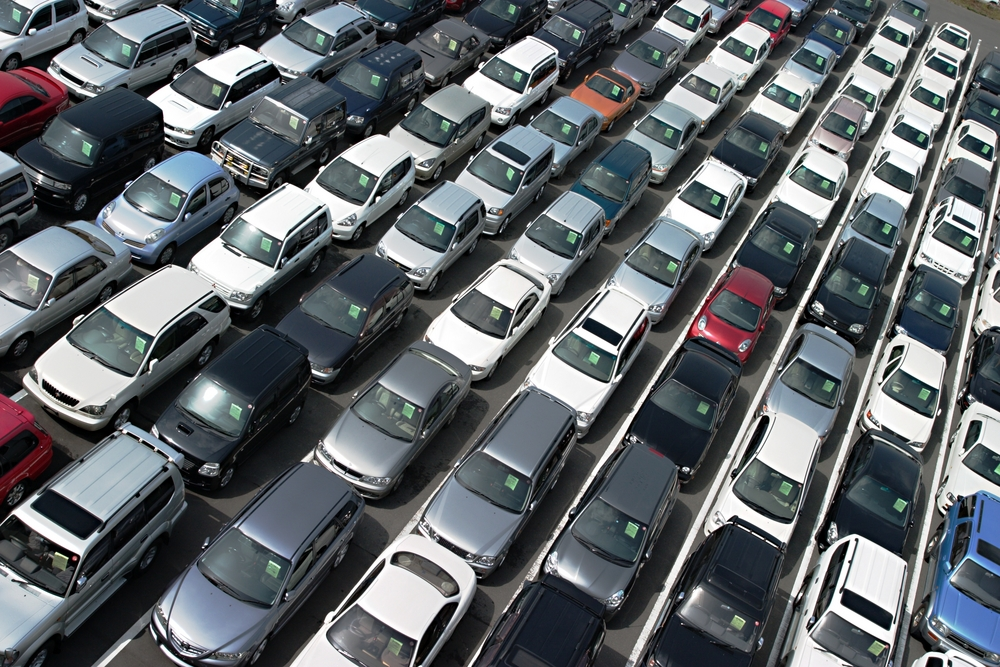 a lot full of cars for sale